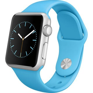 Apple Watch Sport 38mm Silver Aluminum Smartwatch with Blue Band