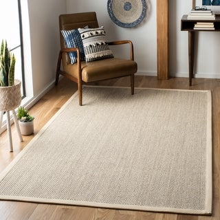 Safavieh Casual Natural Fiber Marble/ Beige Sisal Area Rug (6' Square)
