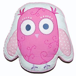 Pink Owl Decorative Pillow