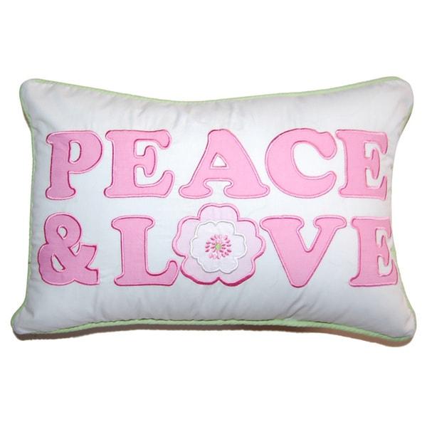 Greta Pastel Peace & Love Decorative Throw Pillow