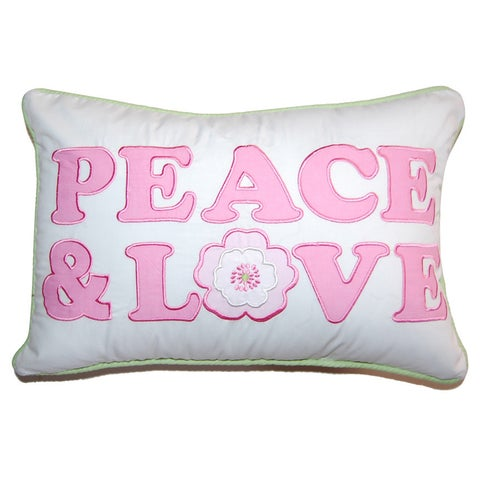 Silver Orchid Bouber Pastel Peace & Love Decorative Throw Pillow
