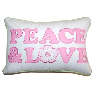Greta Pastel Peace & Love Decorative Throw Pillow