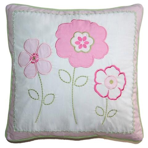 Silver Orchid Bouber Pastel Floral Decorative Pillow
