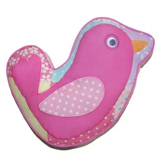Pink Bird Decorative Pillow