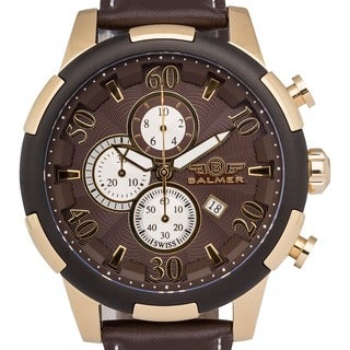 Balmer Mulsanne Men's Swiss-made Quartz Chronograph Watch with Richly Textured Dial