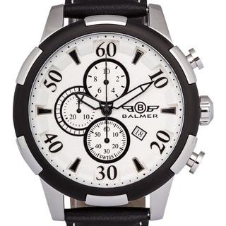 Balmer Mulsanne Men's Swiss-made Quartz Chronograph Watch with Richly Textured Dial