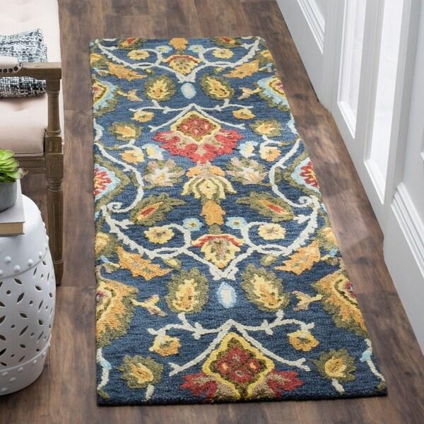 Shop Safavieh Handmade Blossom Navy Multi Wool Rug 2 3