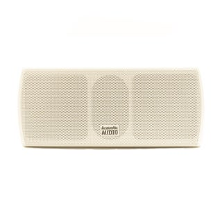 Acoustic Audio AA32CW Mountable Indoor Center Speaker 300-watt White Bookshelf