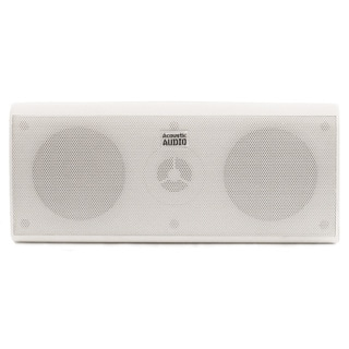 Acoustic Audio AA35CW Indoor Center 3 Way Speaker 400-watt White Bookshelf