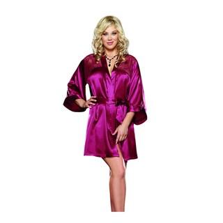 Donna di Capri Women's Charmeuse Lace Short Robe