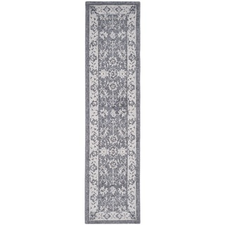 Safavieh Carmel Dark Grey/ Beige Cotton Rug (2' x 8')