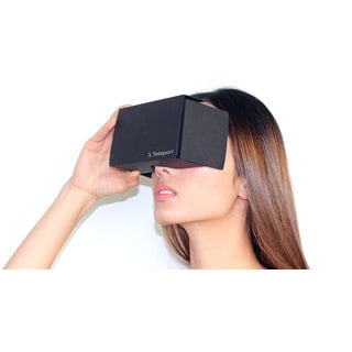 Teleport Virtual Reality Black Cardboard Headset