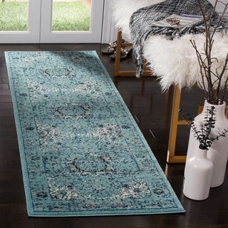 Safavieh Evoke Vintage Oriental Light and Dark Blue Distressed Rug (2'2 x 7')