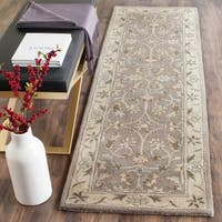 Safavieh Handmade Heritage Timeless Traditional Grey/ Beige Wool Rug - 2'3 x 8'