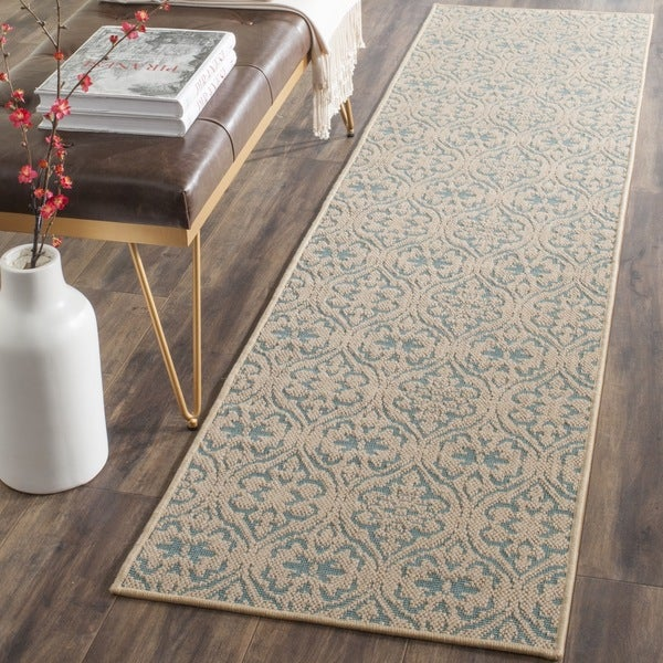 Safavieh palm beach natural turquoise rug 2 39 x 8 39 free shipping today Home goods palm beach gardens