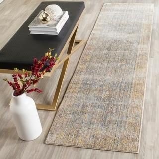 Safavieh Valencia Grey/ Multi Distressed Silky Polyester Rug (2'3 x 8')