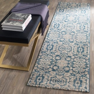 Safavieh Sofia Vintage Damask Blue/ Beige Distressed Rug (2'2 x 8')