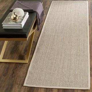 Safavieh Casual Natural Fiber Marble/ Beige Sisal Runner Rug (2'6 x 10')
