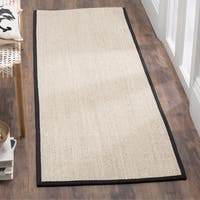 Safavieh Casual Natural Fiber Marble/ Black Sisal Runner Rug (2'6 x 6') - 2'6 x 6'