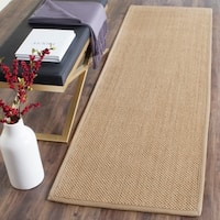 Safavieh Casual Natural Fiber Natural Maize/ Ivory Linen Sisal Area Rug - 2'6 x 12'