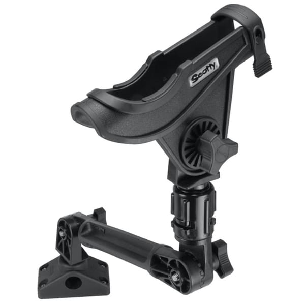 Scotty baitcaster rod holder with 429 and 241l black for Scotty fishing rod holder