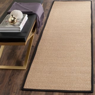 Safavieh Casual Natural Fiber Natural Maize/ Black Sisal Runner Rug (2'6 x 12')