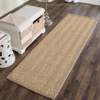 Safavieh Casual Natural Fiber Natural / Grey Jute Area Rug (2'6 x 6')