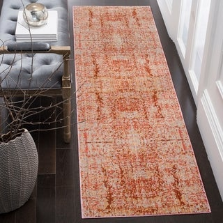 Safavieh Mystique Watercolor Vintage Rose/ Multi Polyester Rug (2'3 x 8')