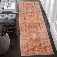 "Safavieh Mystique Watercolor Rose/ Multi Silky Runner Rug - 2'3"" x 8'"