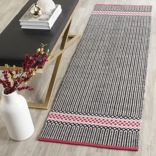 Safavieh Hand-Woven Montauk Light Pink/ Multi Cotton Rug (2'3 x 7')
