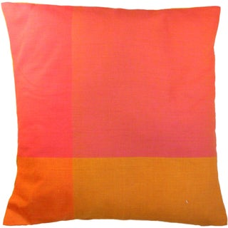 Handmade Sunset Pink Large Pillow (India)