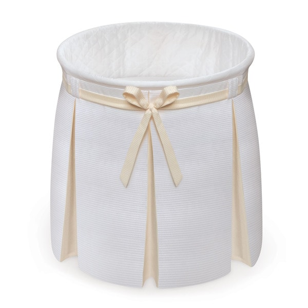 Shop Badger Basket Empress White Ecru Round Baby Bassinet Free Shipping On Orders Over 45