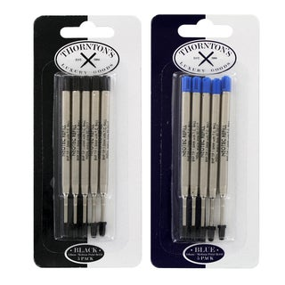 Thornton's Luxury Goods Parker Style Ballpoint Refills, Medium, 5 Blue and 5 Black