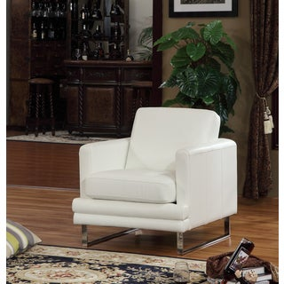 Lazzaro Leather Melbourne White Chair