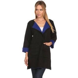 High Secret Women's Colorblock 2-button Cardigan