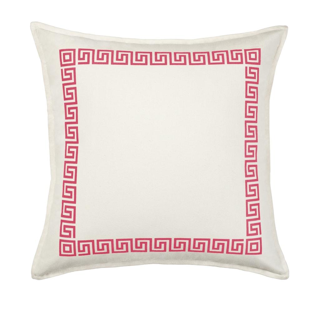 Shop Greek Key Cotton Canvas 20-inch Pillow - Overstock - 11042239