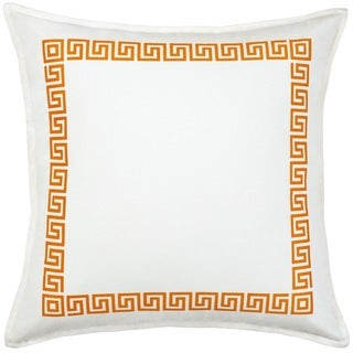 Greek Key Cotton Canvas 20-inch Pillow