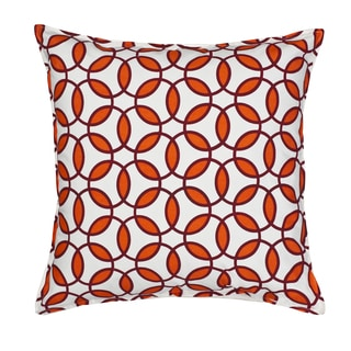Rings Cotton Canvas 20-inch Pillow
