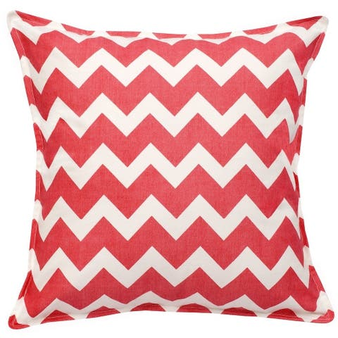 Chevron Cotton Canvas 20-inch Pillow