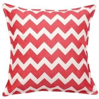 Chevron Cotton Canvas 20-inch Pillow (Option: Pink)