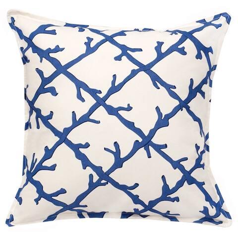 Lattice Cotton Canvas 20-inch Pillow