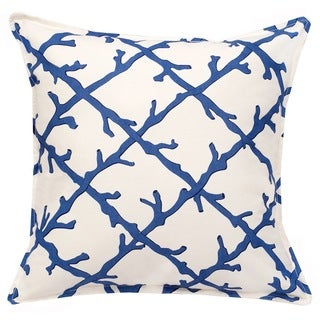 Lattice Cotton Canvas 20-inch Pillow
