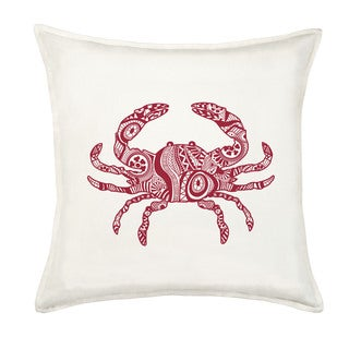 Crab Cotton Canvas 20-inch Pillow