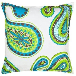 Paisley Cotton Canvas 20-inch Pillow