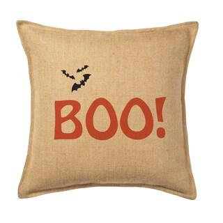 Boo. Burlap 20-inch Pillow