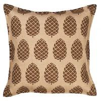 Pinecone Burlap 20-inch Pillow