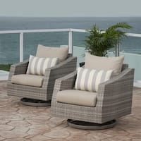 RST Brands Cannes Motion Club Chairs in Slate Grey