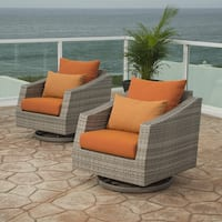 RST Brands Cannes Motion Club Chairs in Tikka Orange