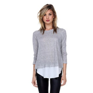 Stanzino Women's 3/4-Length Sleeve Layered Sweater Top