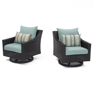 RST Brands Deco Motion Club Chairs in Bliss Blue